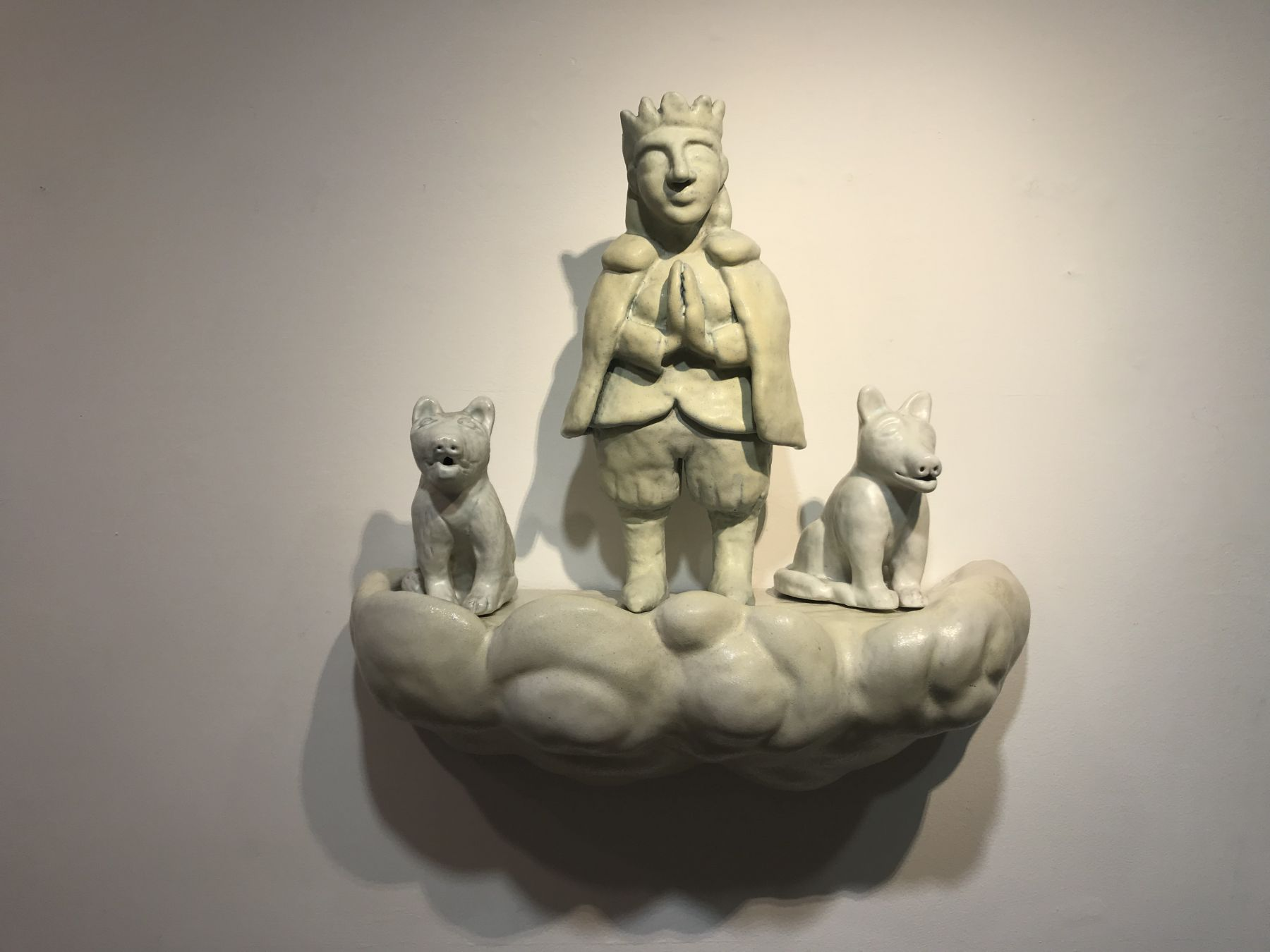 Detail: Princess and two dogs