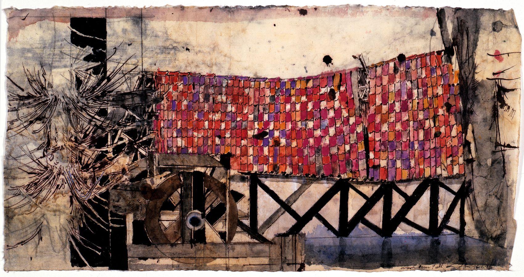HORST JANSSEN, Landscape Xmas, 16-1-1995