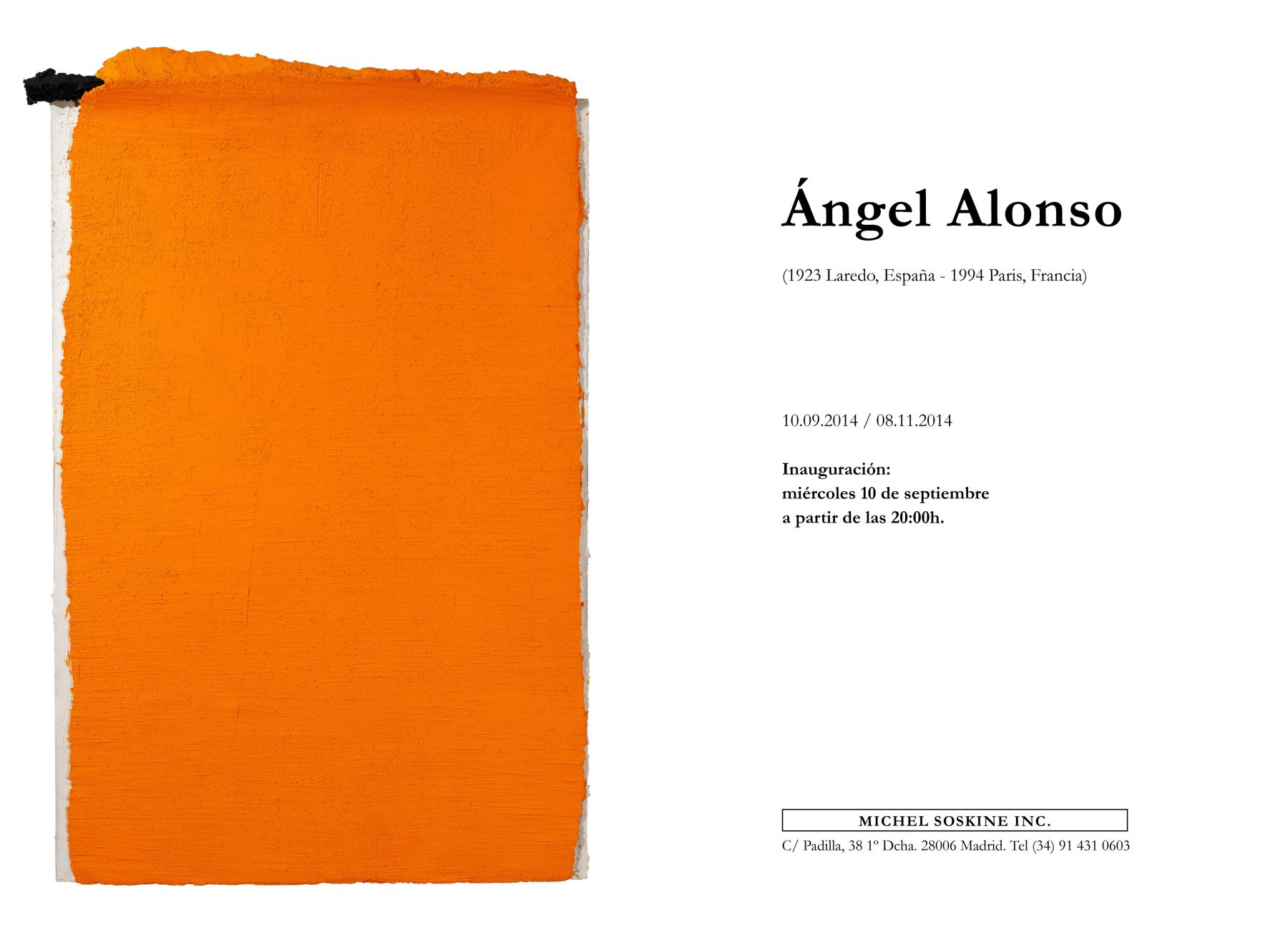 ÁNGEL ALONSO, 1923 Laredo, Spain - 1994 Paris, France