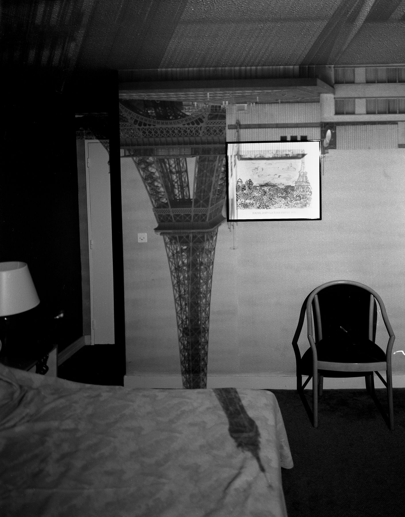 Abelardo Morell, Camera Obscura: Image of the Eiffel Tower in the Hotel Frantour, 1999