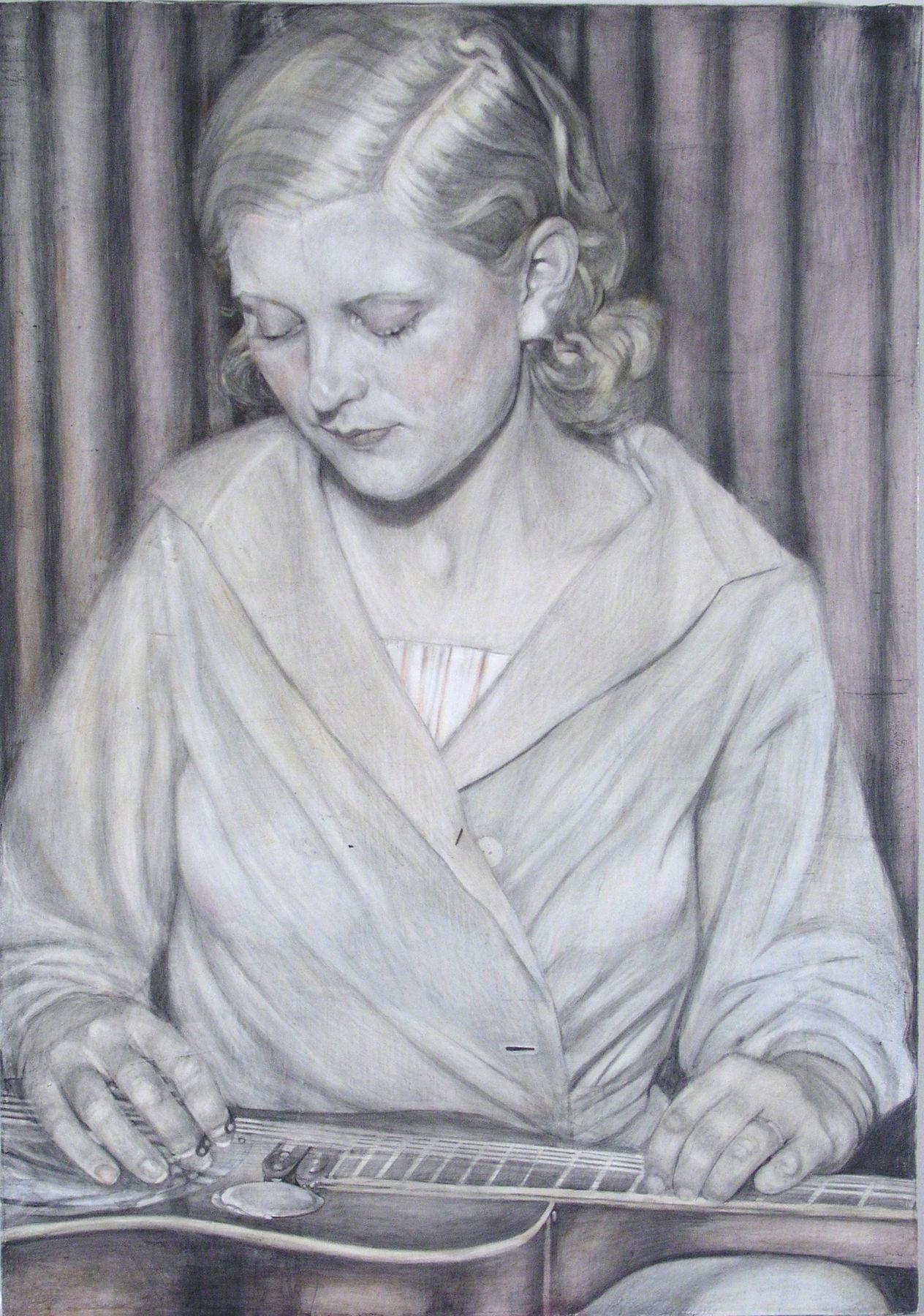 Jenny Scobel, Blond in Red White Blue, 2009