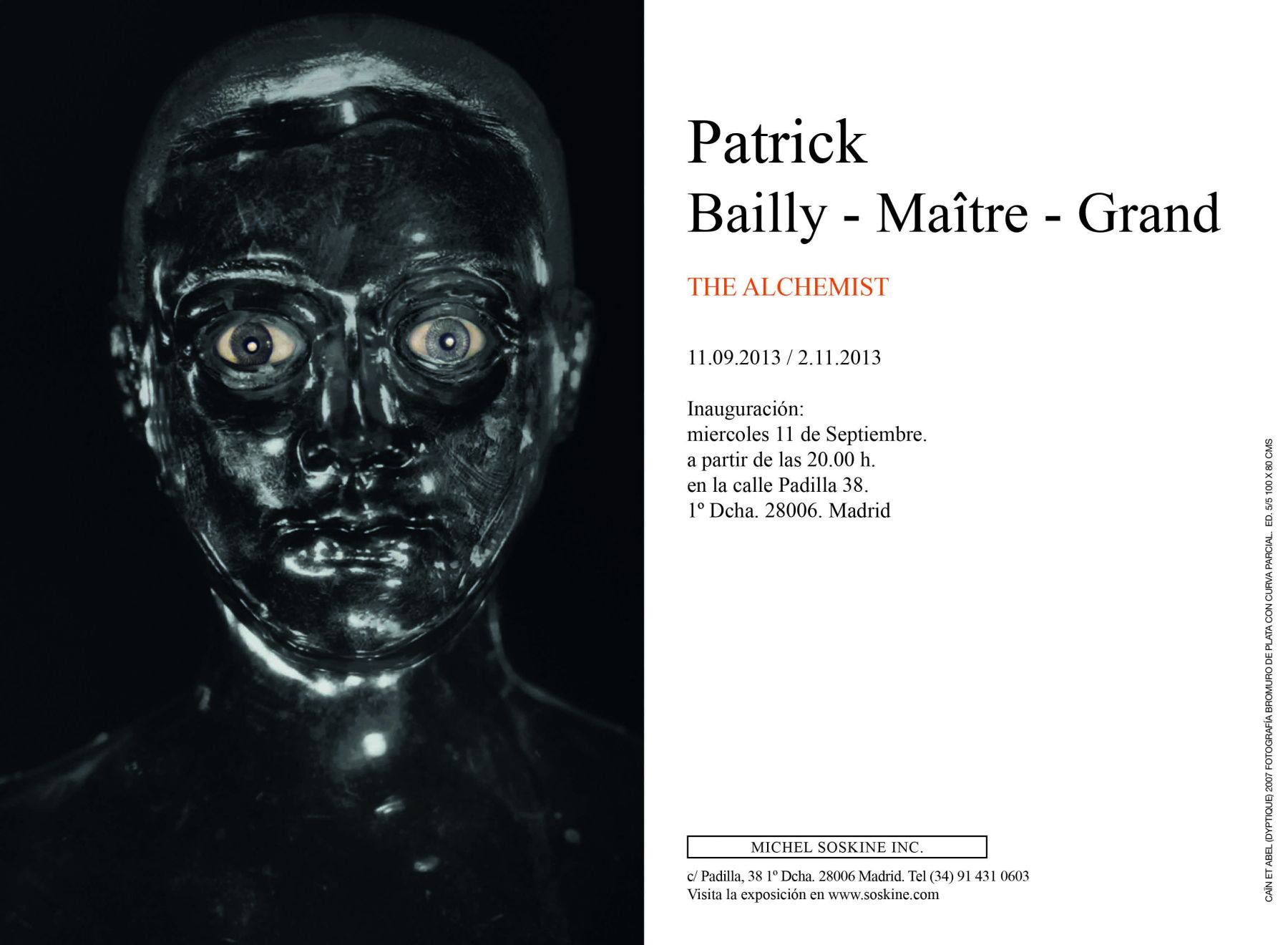Patrick Bailly-Maître-Grand, The Alchemist