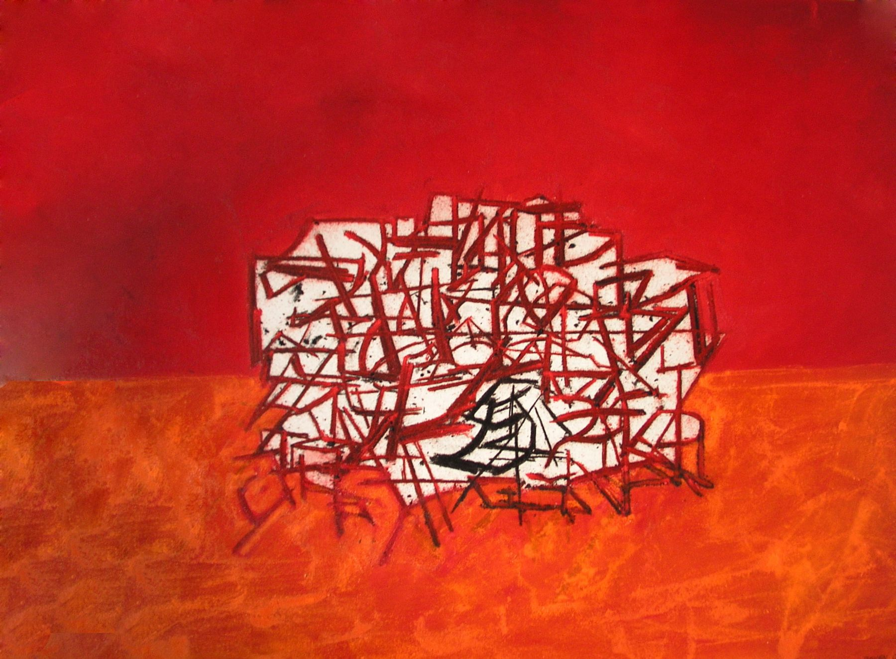 Tony Bevan, Still Life Red, 2009