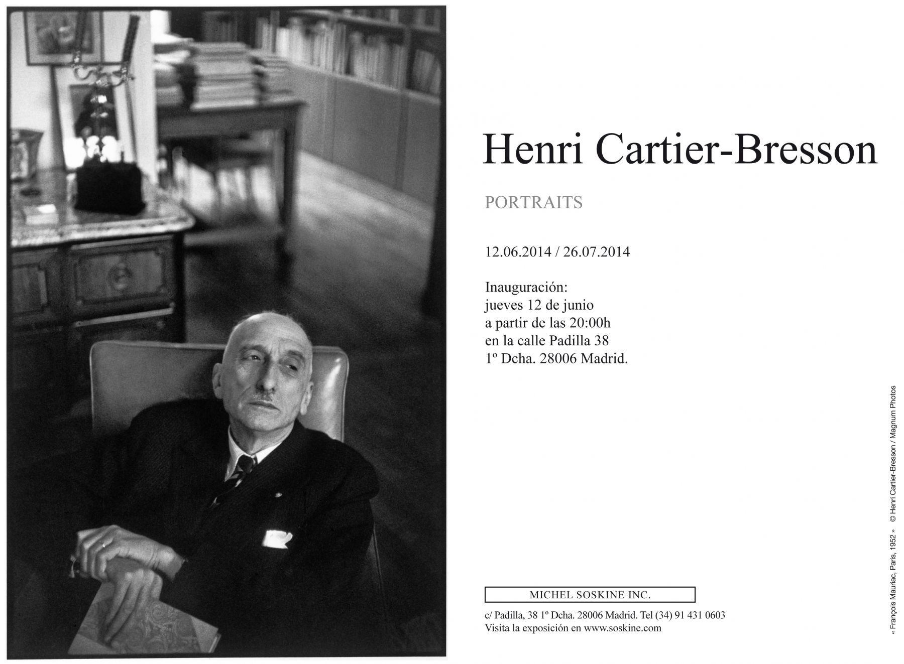 HENRI CARTIER-BRESSON, Portraits