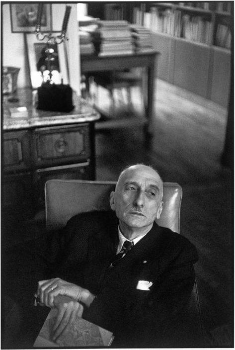 Henri Cartier-Bresson, « François Mauriac, Paris, 1952 »