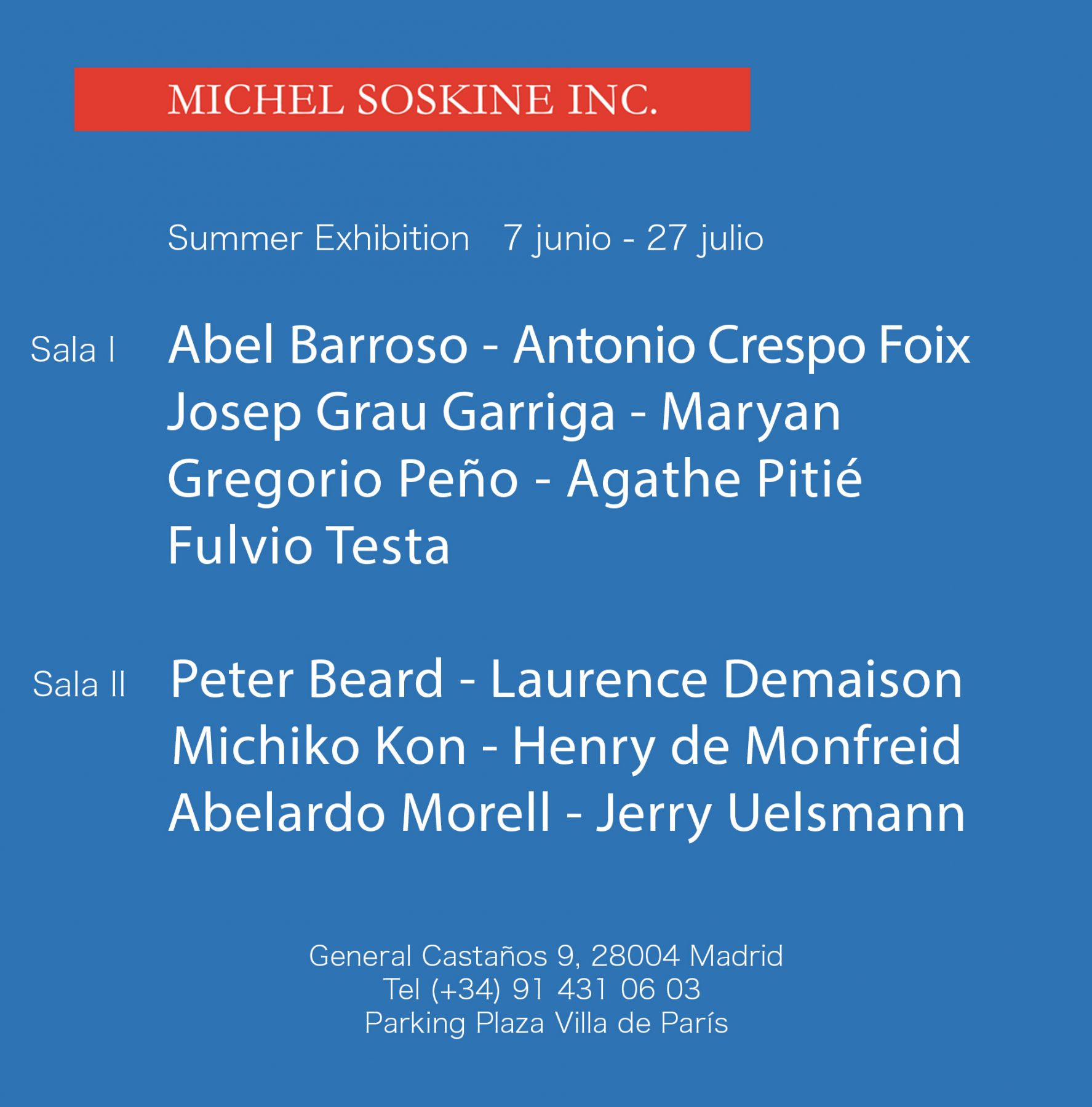 summer show michel soskine
