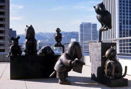 Law of Nature (Trial Scene), Mark O. Hatfield US Courthouse, General Services Administration, Portland, OR