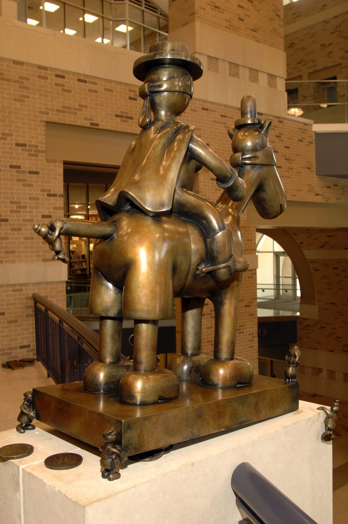 Horse and Rider,Texas Tech University, Student Union, Lubbock, TX
