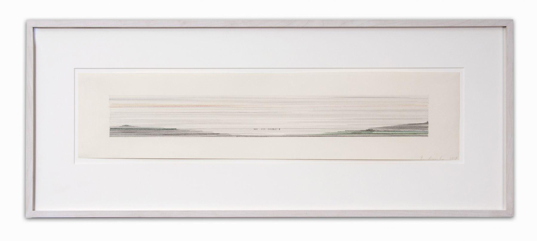 "Ed Ruscha_ KISS, 1979 (7 3:8"" x 34"") Wall - Casterline|Goodman Gallery.jpg"