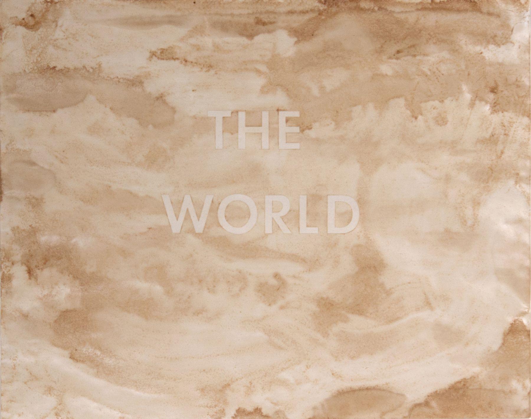 "Ed Ruscha_ The World, 1977 (23"" x 29"") No Frame - Casterline|Goodman Gallery.jpg"
