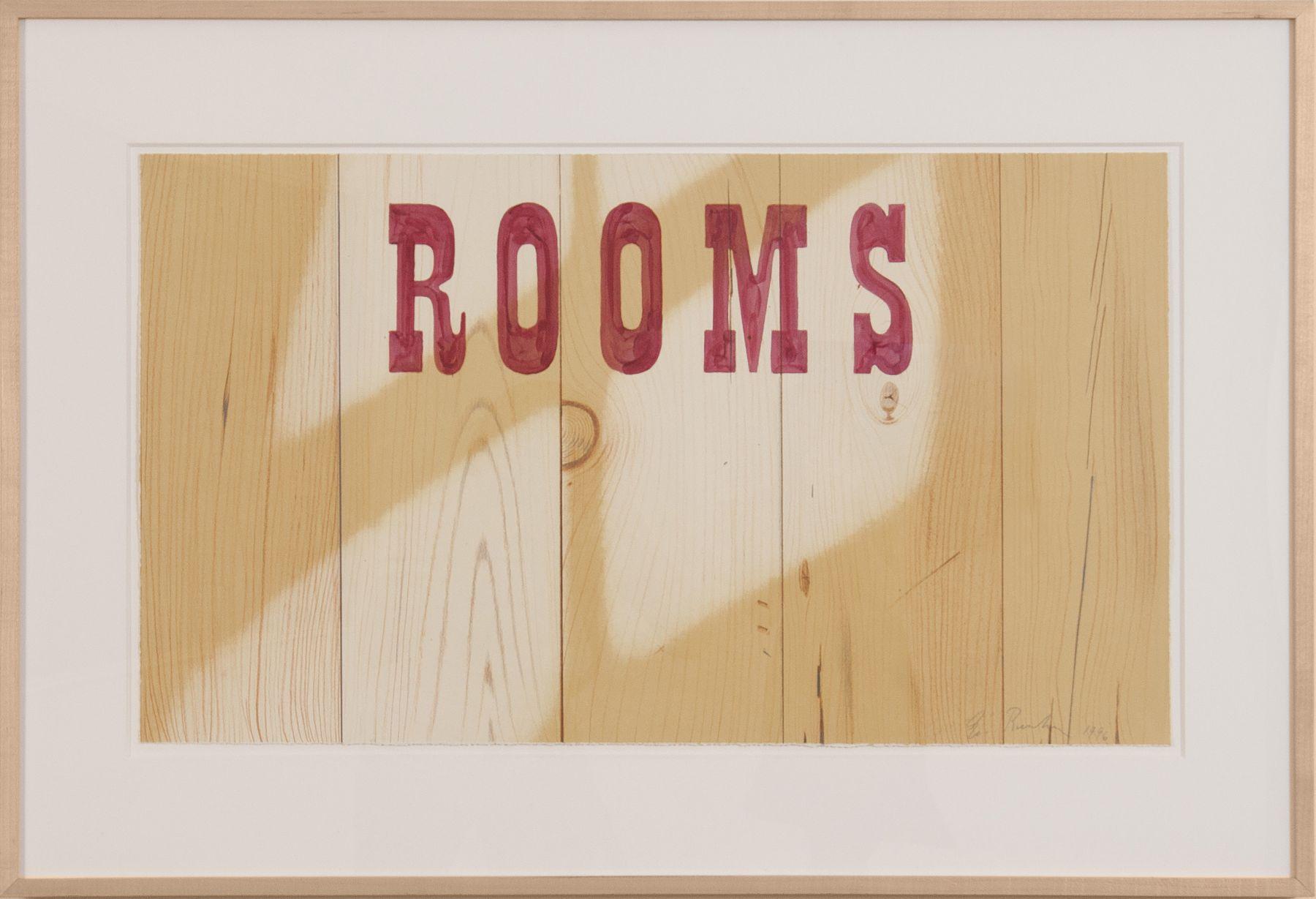 "Ed Ruscha_Rooms, 1996 (16"" x 28"") Frame-Casterline|Goodman Gallery.jpg"