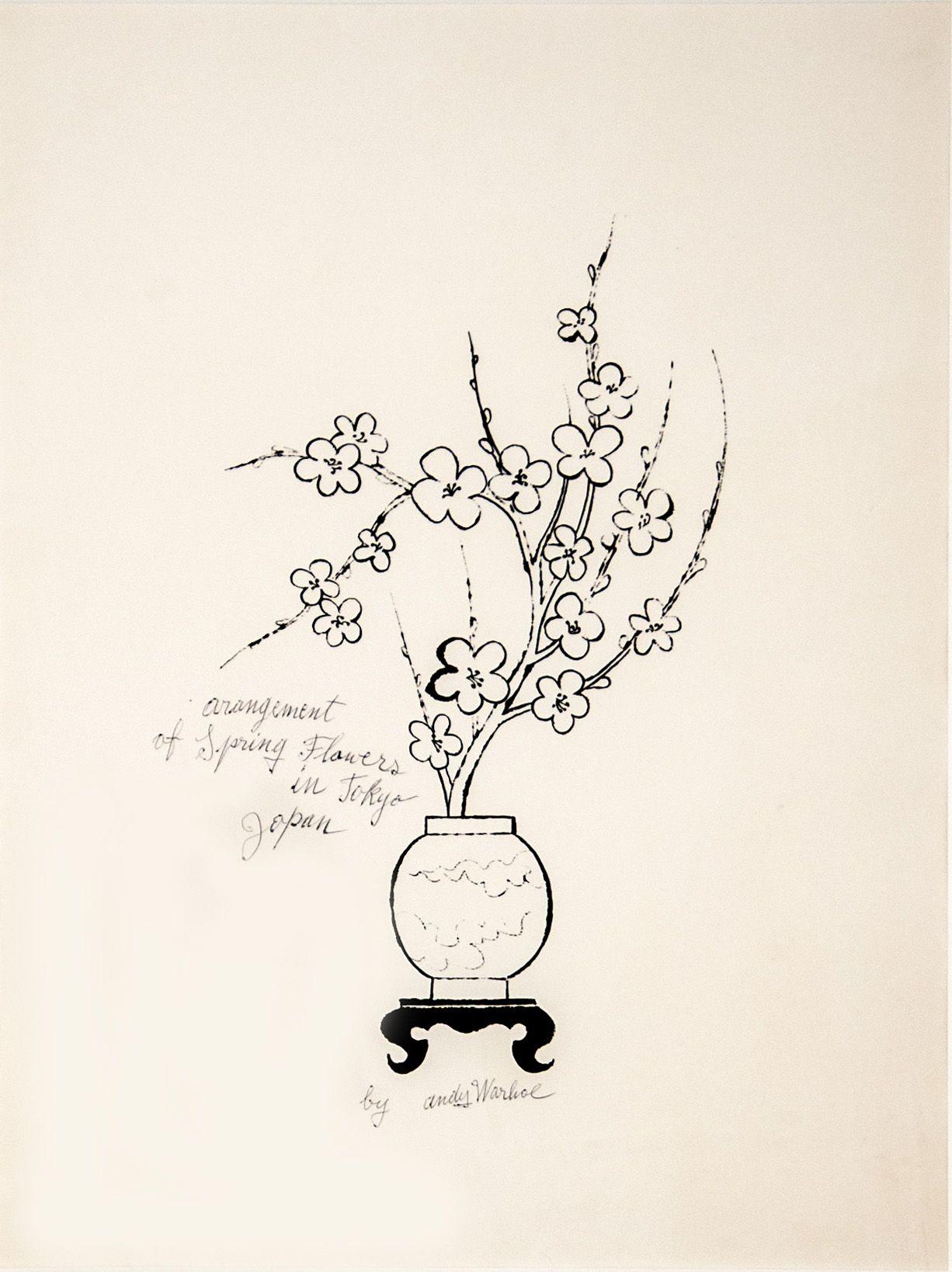 "Andy Warhol_Arrangement of Spring Flowers in Tokyo, Japan, 1956 (19"" x 14"") - Casterline|Goodman"