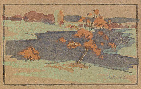 NabisPoint, 1913, Color Woodcut