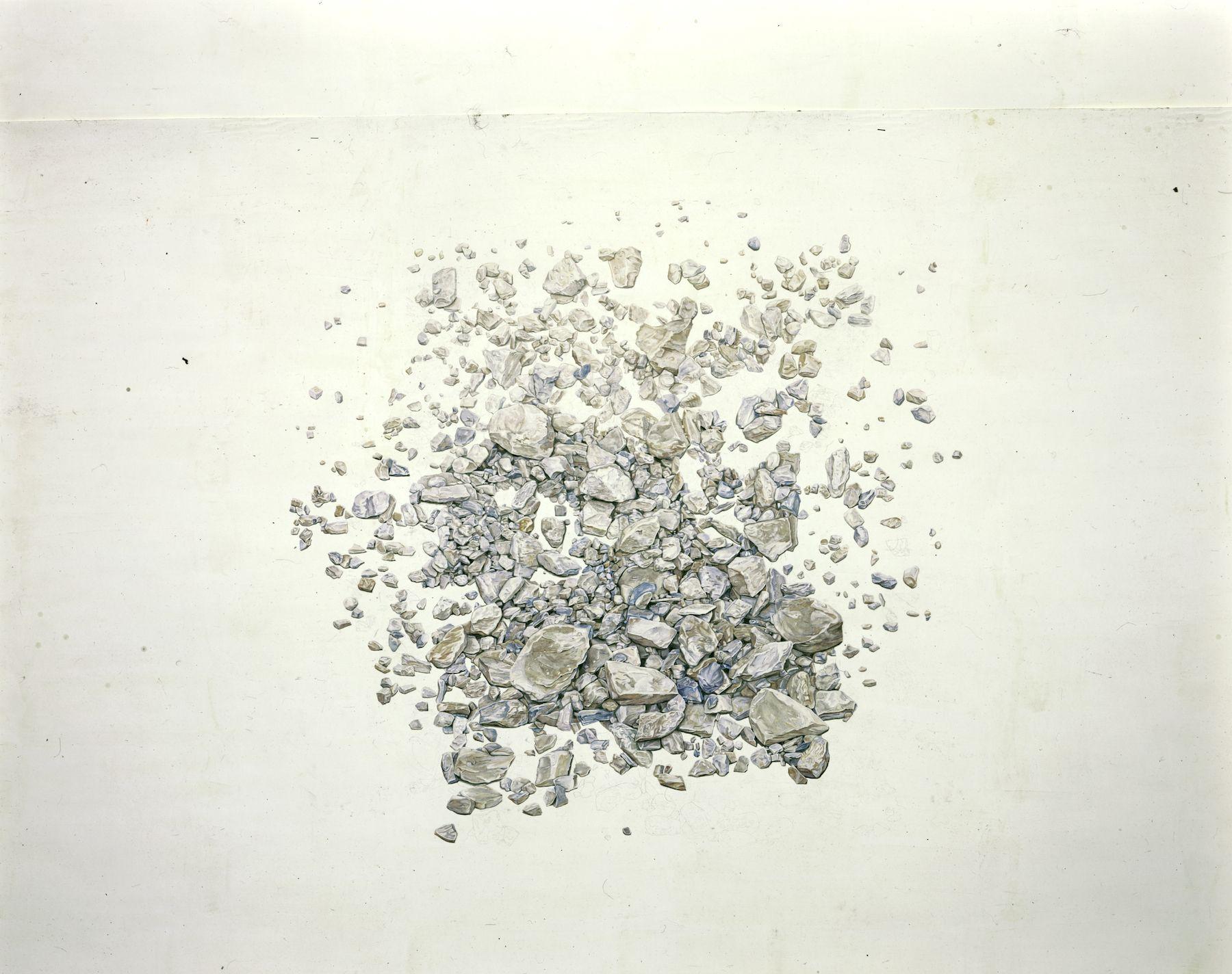 Toba Khedoori, Untitled (Rocks) detail