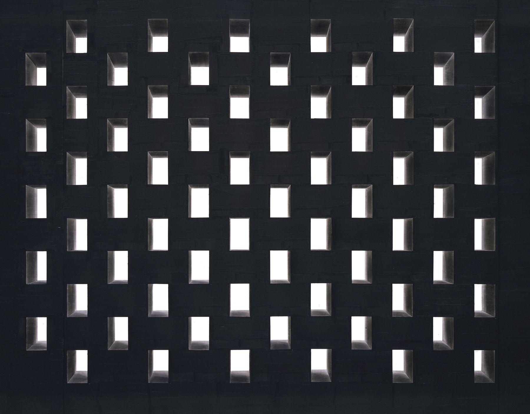 Toba Khedoori, Untitled (Black Windows) detail