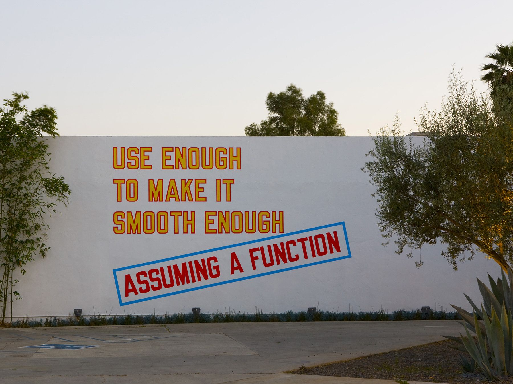 Lawrence Weiner, ASSUMING A FUNCTION