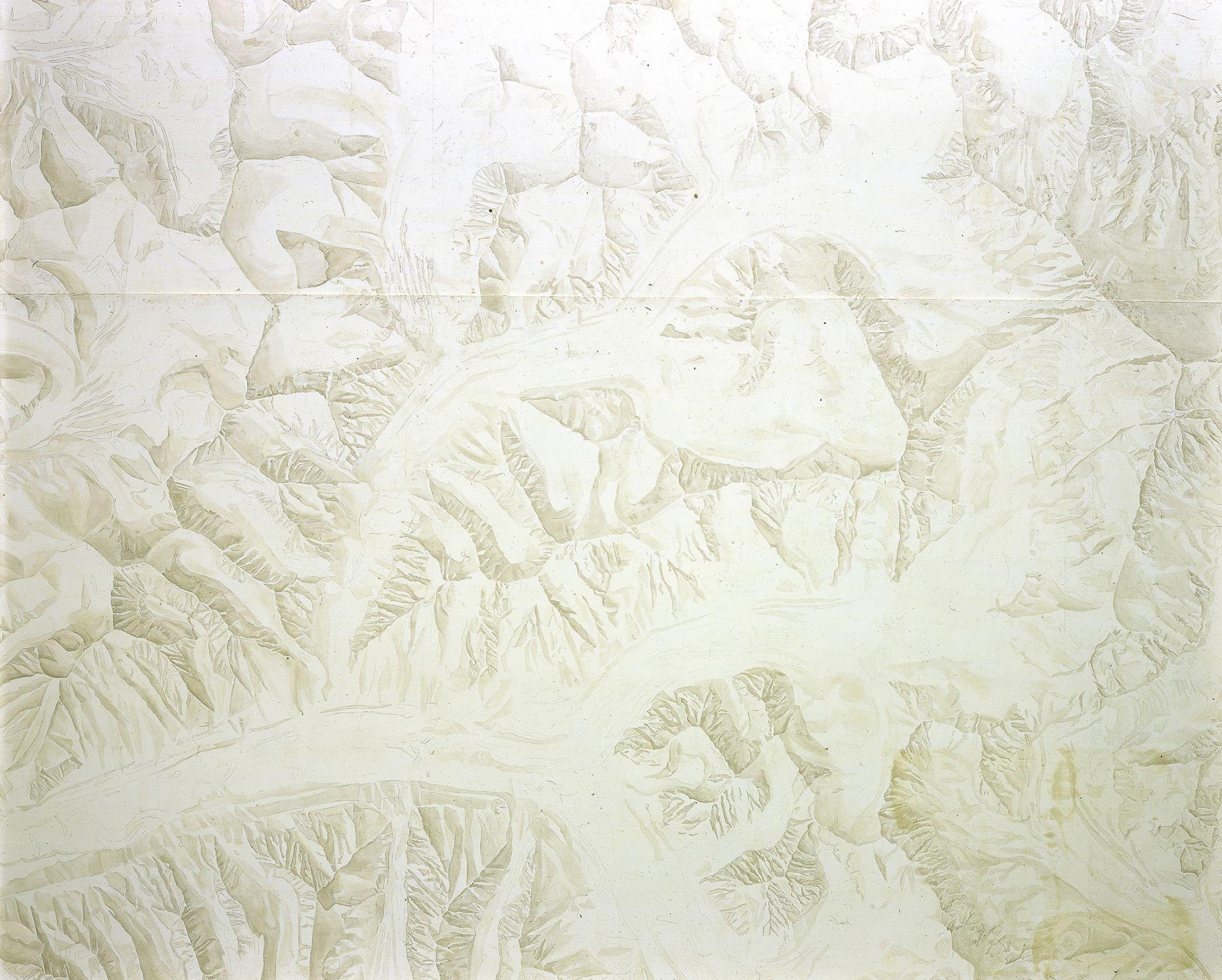 Toba Khedoori, Untitled (Mountains) detail