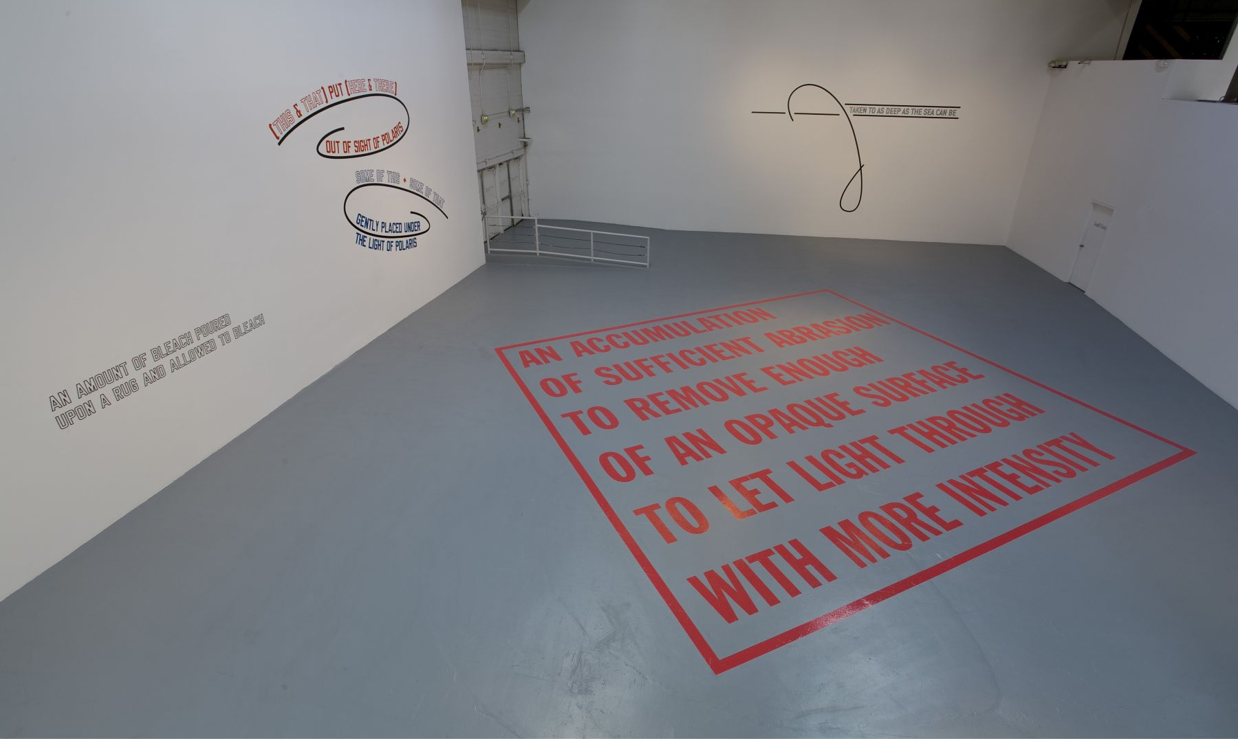 Lawrence Weiner, AS FAR AS THE EYE CAN SEE, MOCA