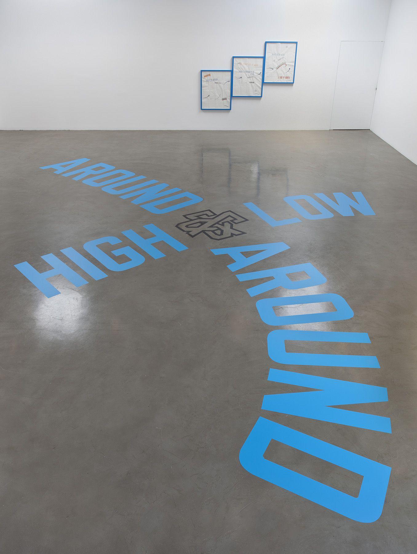 Lawrence Weiner, AROUND & AROUND HIGH & LOW