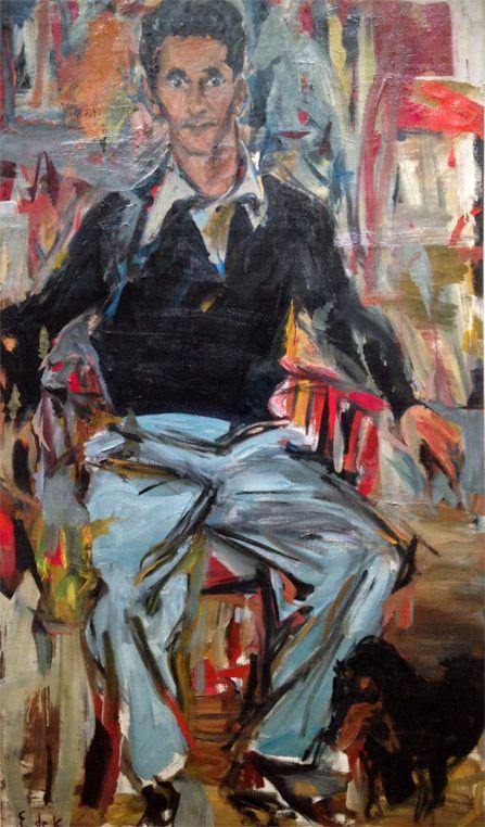 Elaine de Kooning, Portrait of Michael Sonnabend, 1956
