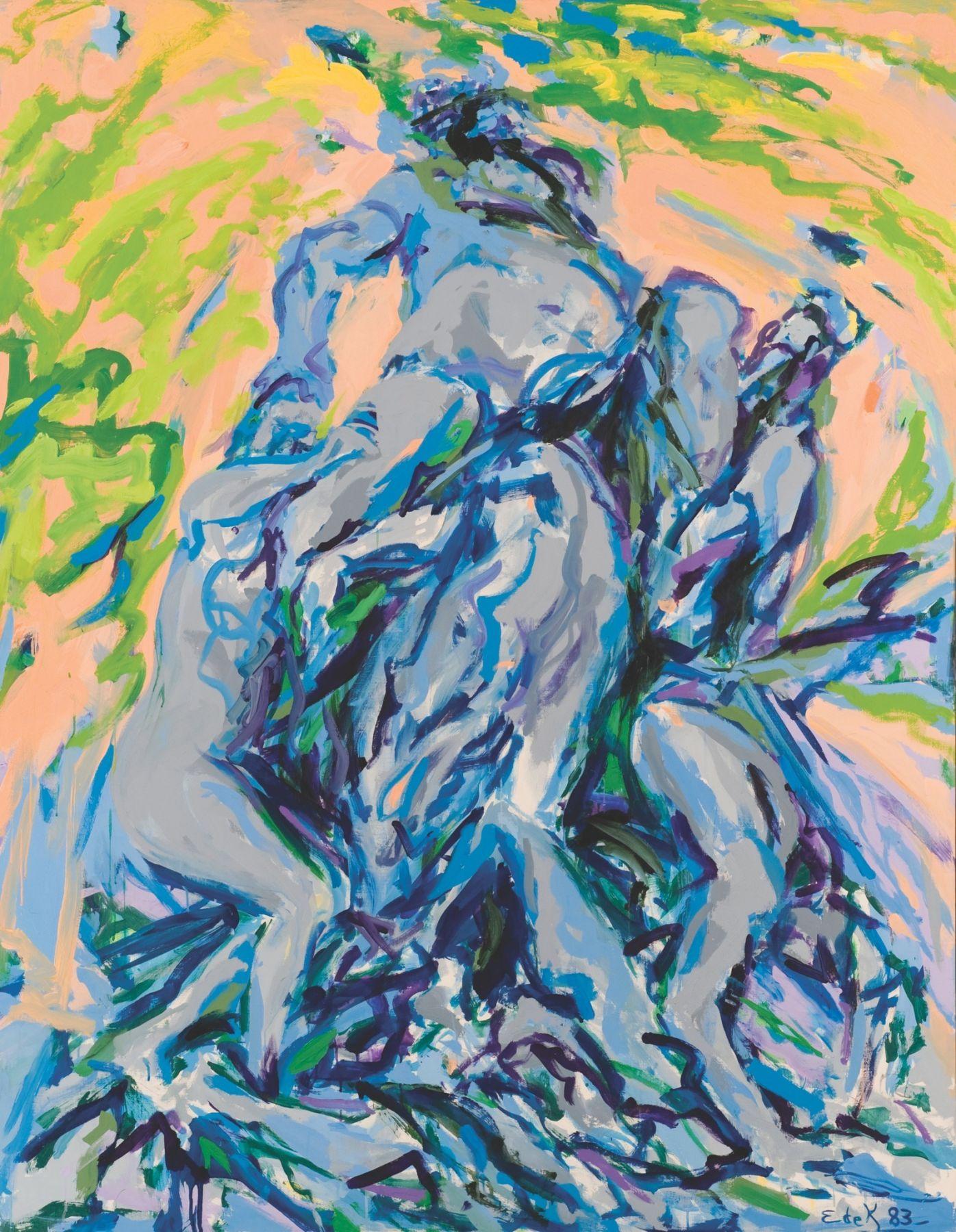 Elaine de Kooning, Bacchus #80