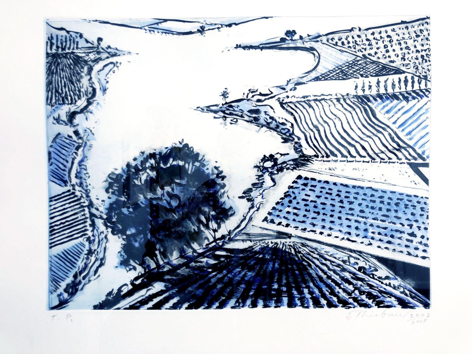Wayne Thiebaud, River and Farms, 2002-2007