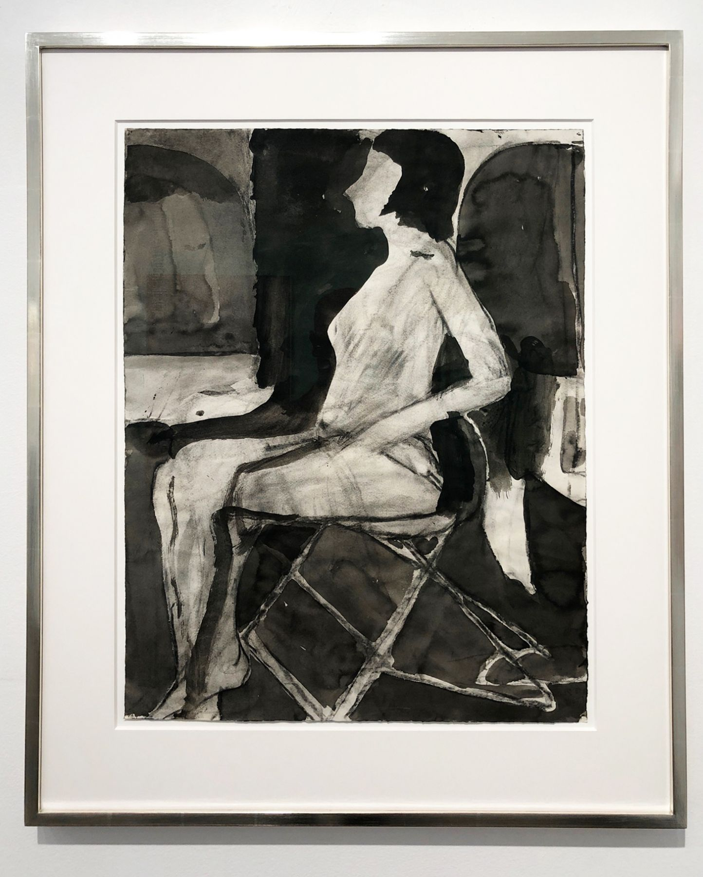 Richard Diebenkorn, Untitled (Seating Nude on Folding Chair), 1967