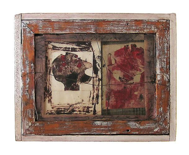 Untitled, 1981 Wood, string, paper, gesso, ink, glass and fabric