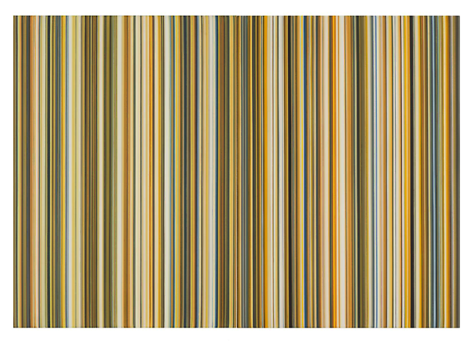 Stripes Nr. 50 and 51, 2013 Oil on canvas (diptych) 28 x 40 inches