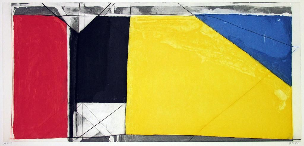 Richard Diebenkorn,Folsom Street Variations III (Primaries), 1986,Etching And Aquatint In Colors
