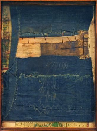 Untitled, 1980 Wood, fabric, acrylic and ink
