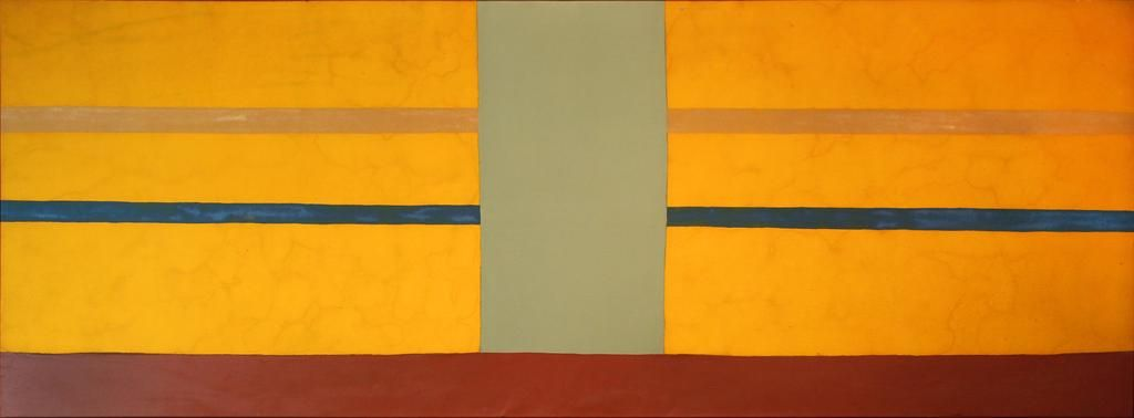 Dan Christensen, Yellow Bumper, 1970, Enamel and Acrylic on Canvas
