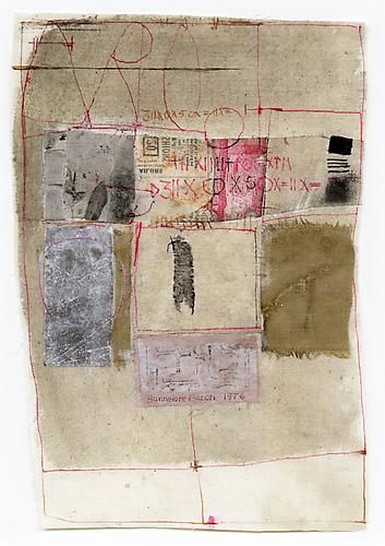 Untitled, 1976 Fabric, paper and ink on fabric
