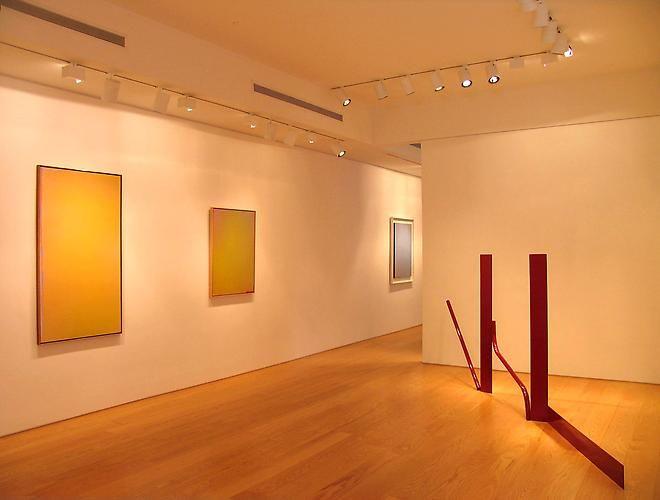Installation view, Jules Olitski & Anthony Caro: Making Art as Naked as Possible, 1964-1978, 2011
