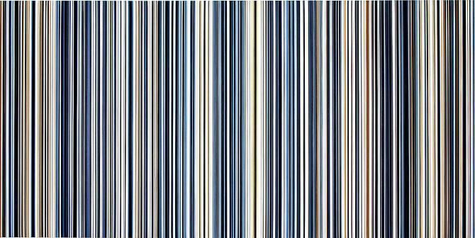 Stripes Nr. 54-56, 2013 Oil on canvas (Triptych) 48 x 96 inches