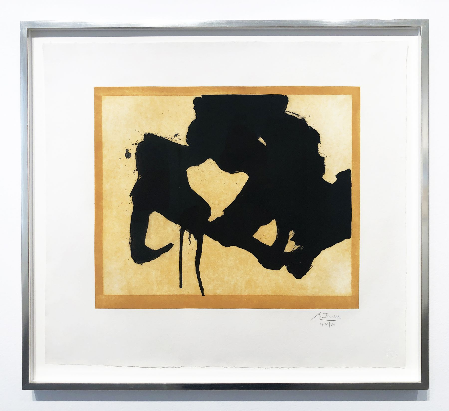 Robert Motherwell, At the Edge, 1984