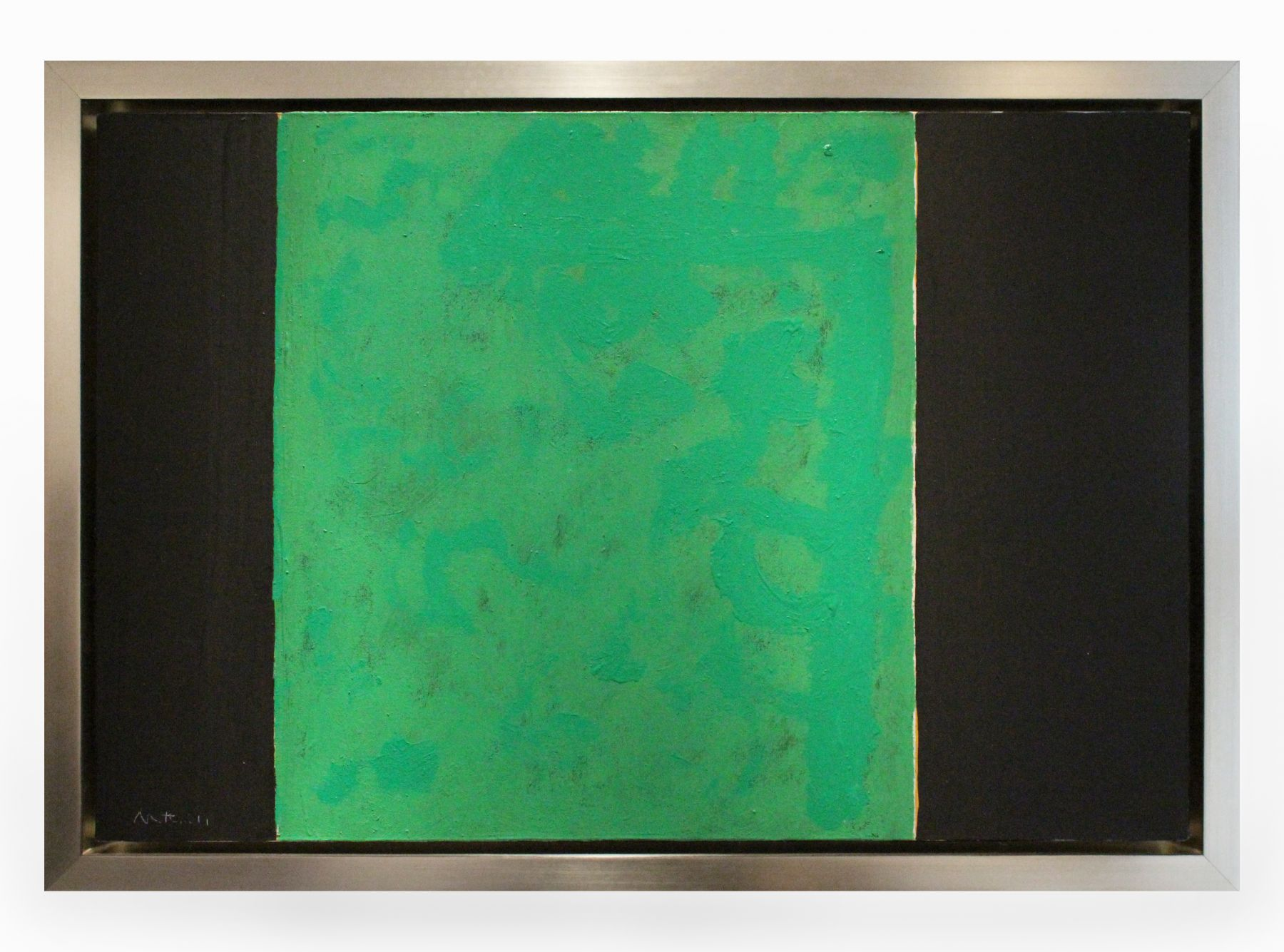 Robert Motherwell, Open No. 57: Green and Black, 1969-70