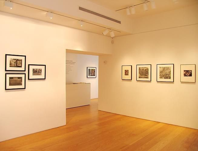 Installation view, Atget and Contemporary Photography, 2010