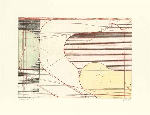 Richard Diebenkorn, Contstruct (Drypoint), from Eight Color Etchings, 1980, Etching, aquatint, and drypoint in colors