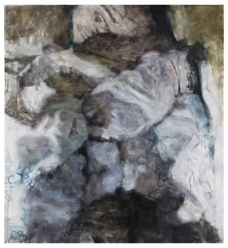 The Bed, 2014 Oil on linen 76 x 70 inches