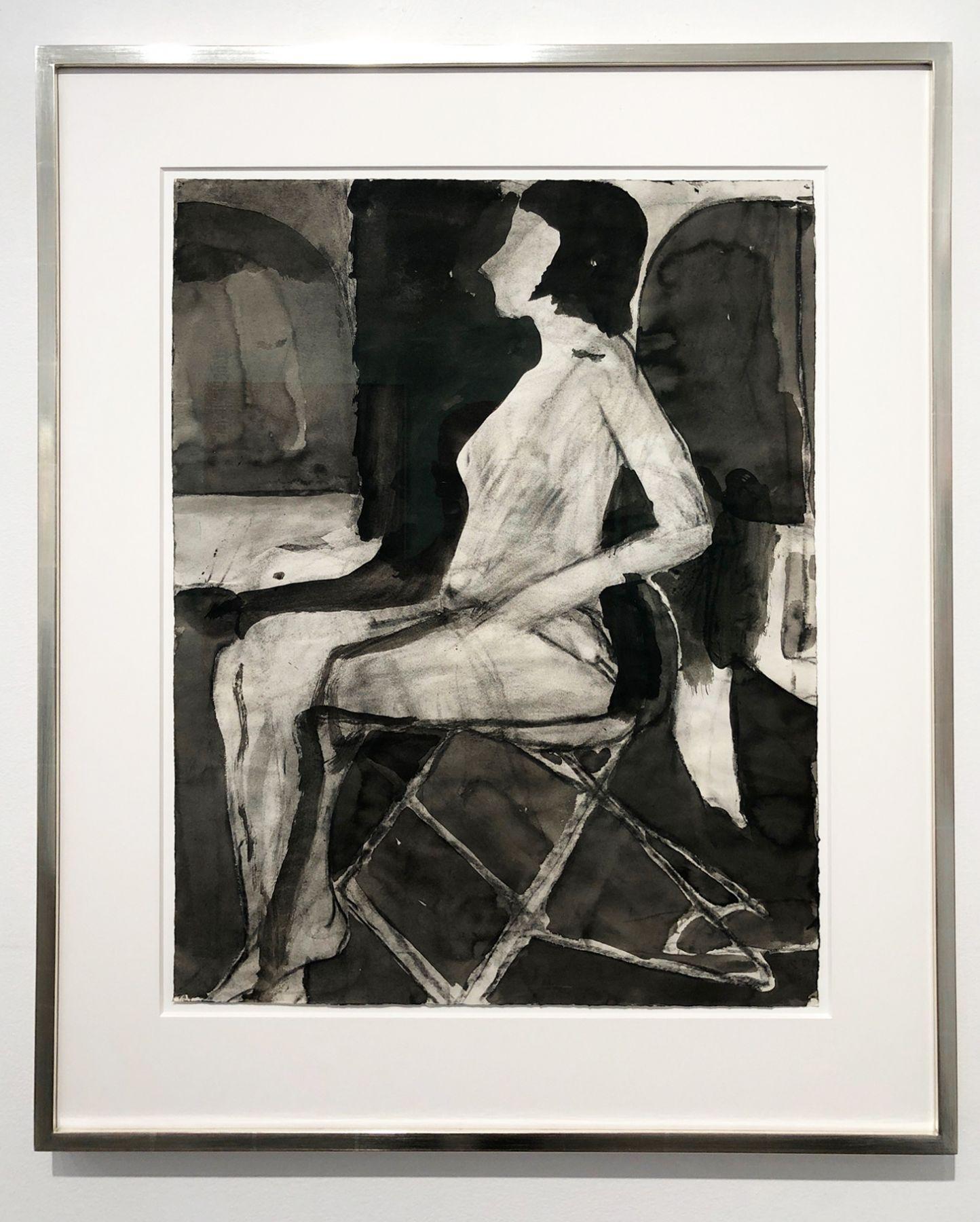 Richard Diebenkorn, Untitled (Seating Nude on Folding Chair), 1967