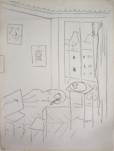 Henri MATISSE Study for Studio Quai St. Michel, 1916