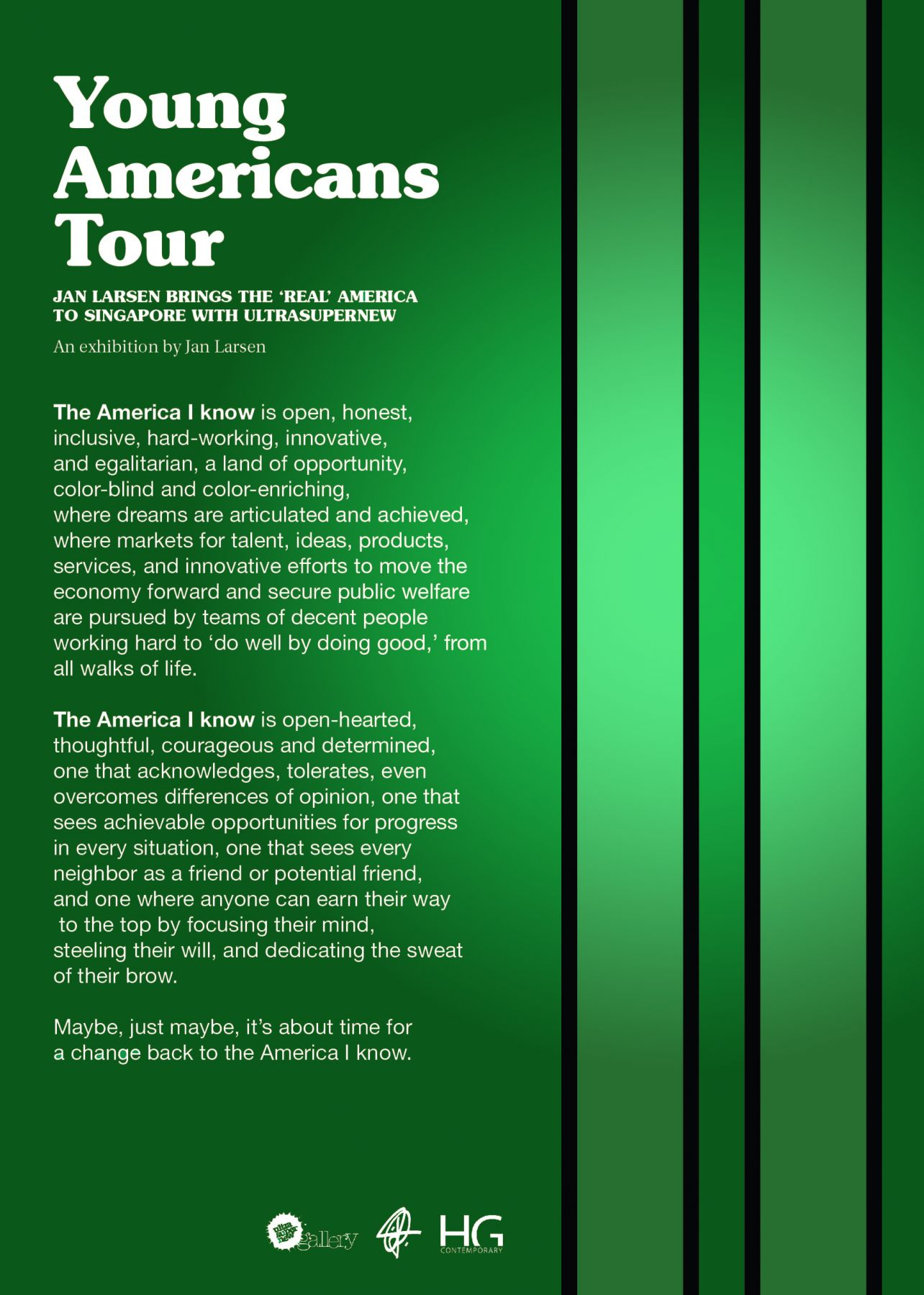 Young Americans Tour Poster at Hg Contemporary