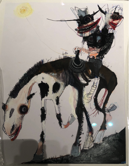 Untitled work on paper by Kinki Texas at Hg Contemporary, founded by Philippe Hoerle-Guggenheim