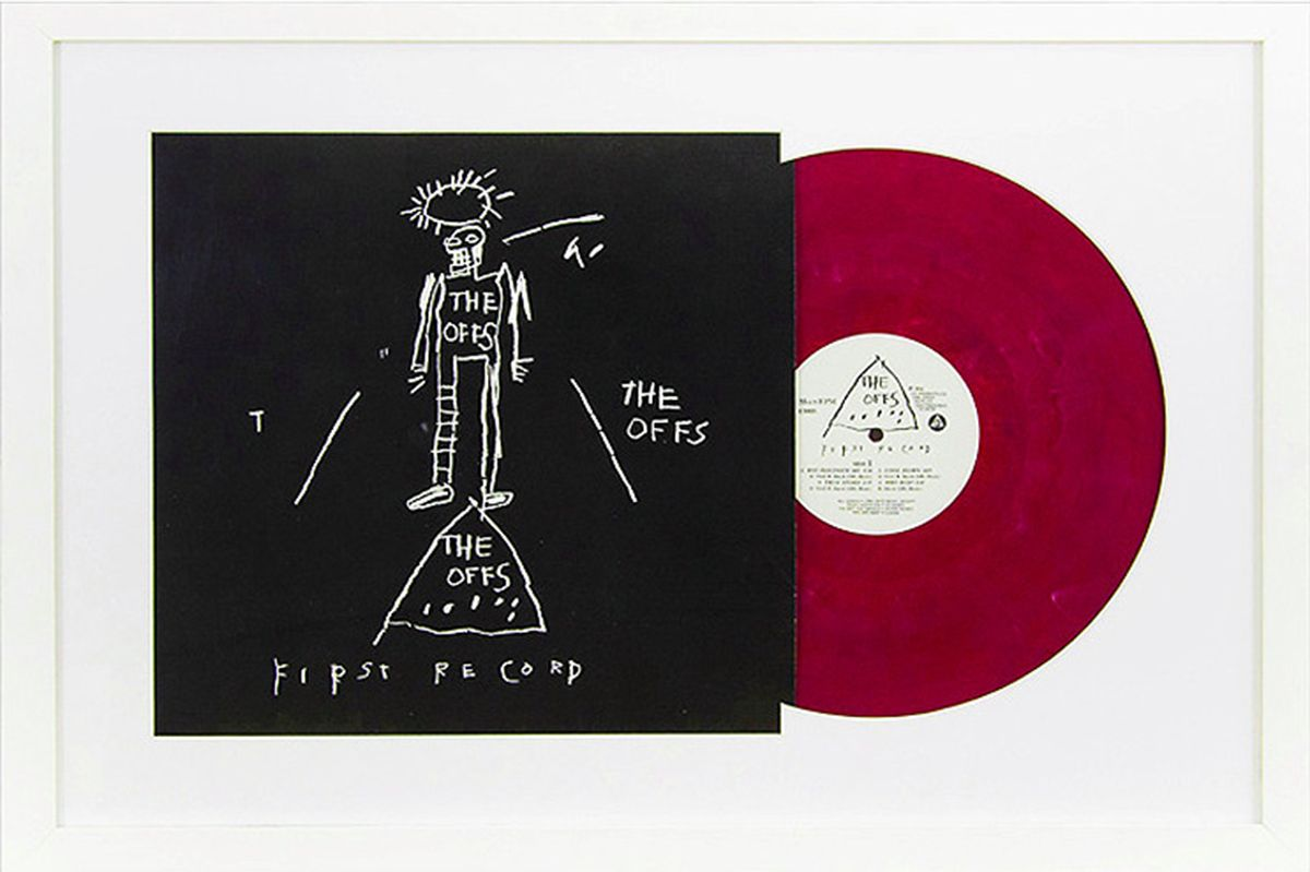 The OFFS First Record, 1984-2009, Cover by Jean Michel-Basquiat