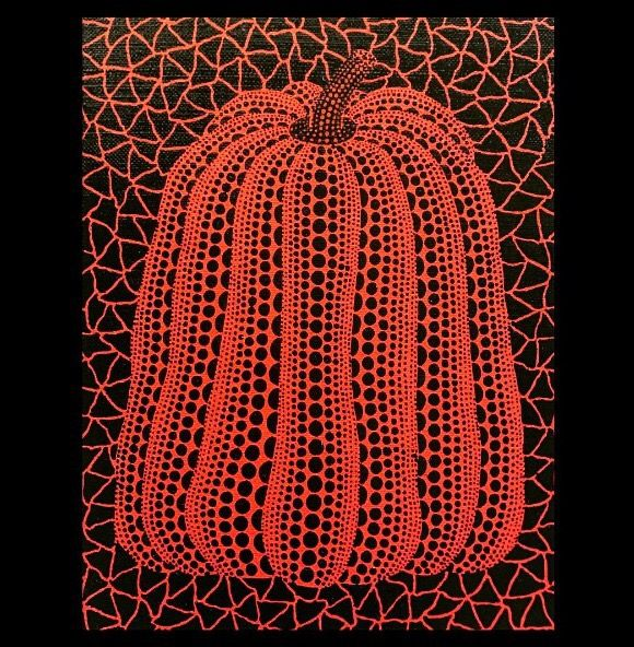 Pumpkin Painting by Yayoi Kusama at Hoerle-Guggenheim Contemporary