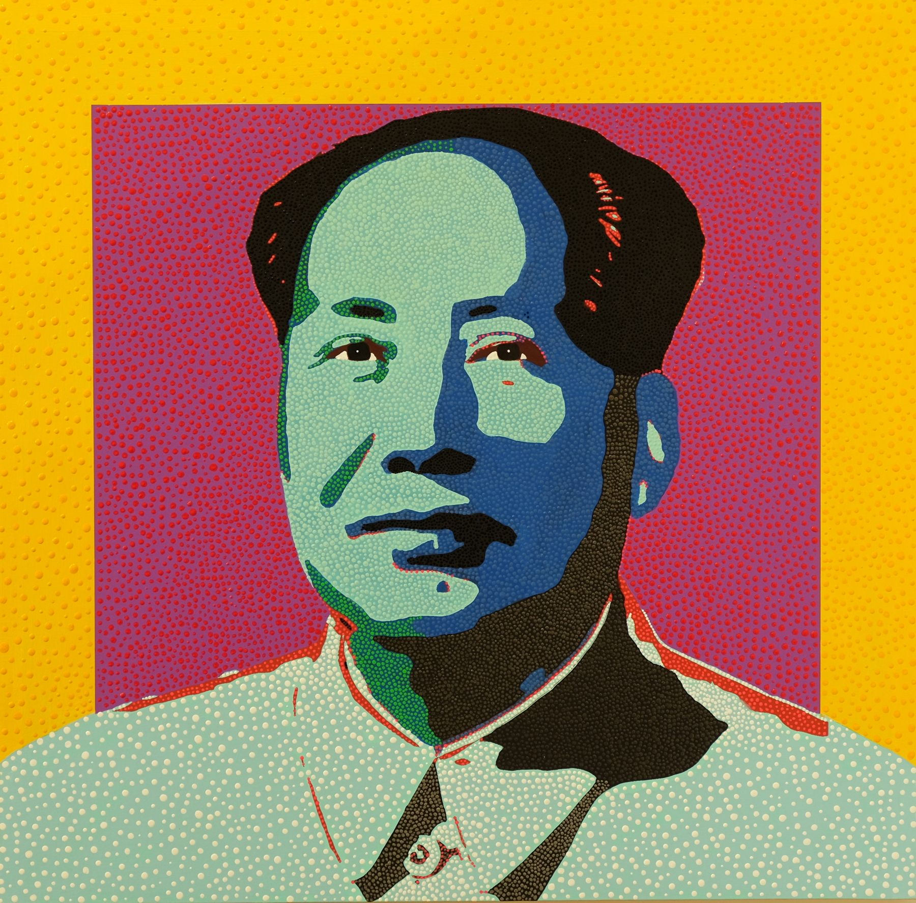 Mao Squared from Dot Pop by Philip Tsiaras at Hg Contemporary founded by Philippe Hoerle Guggenheim