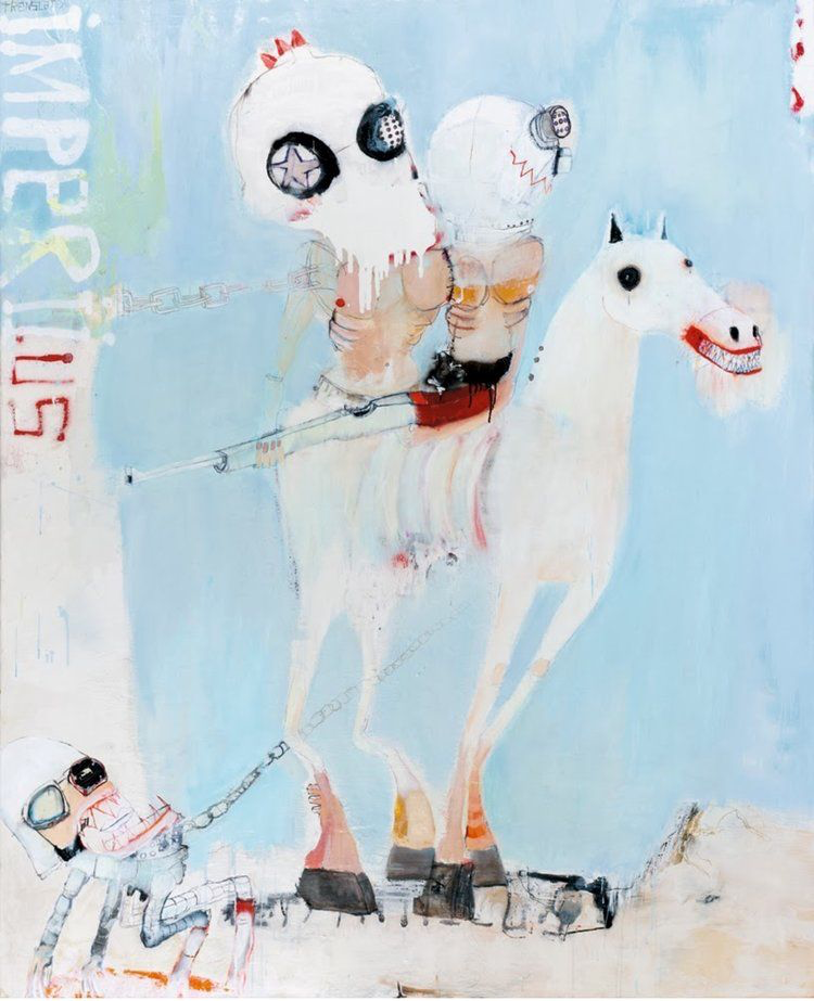 Translator Imperii painting by Kinki Texas at Hg Contemporary, founded by Philippe Hoerle-Guggenheim