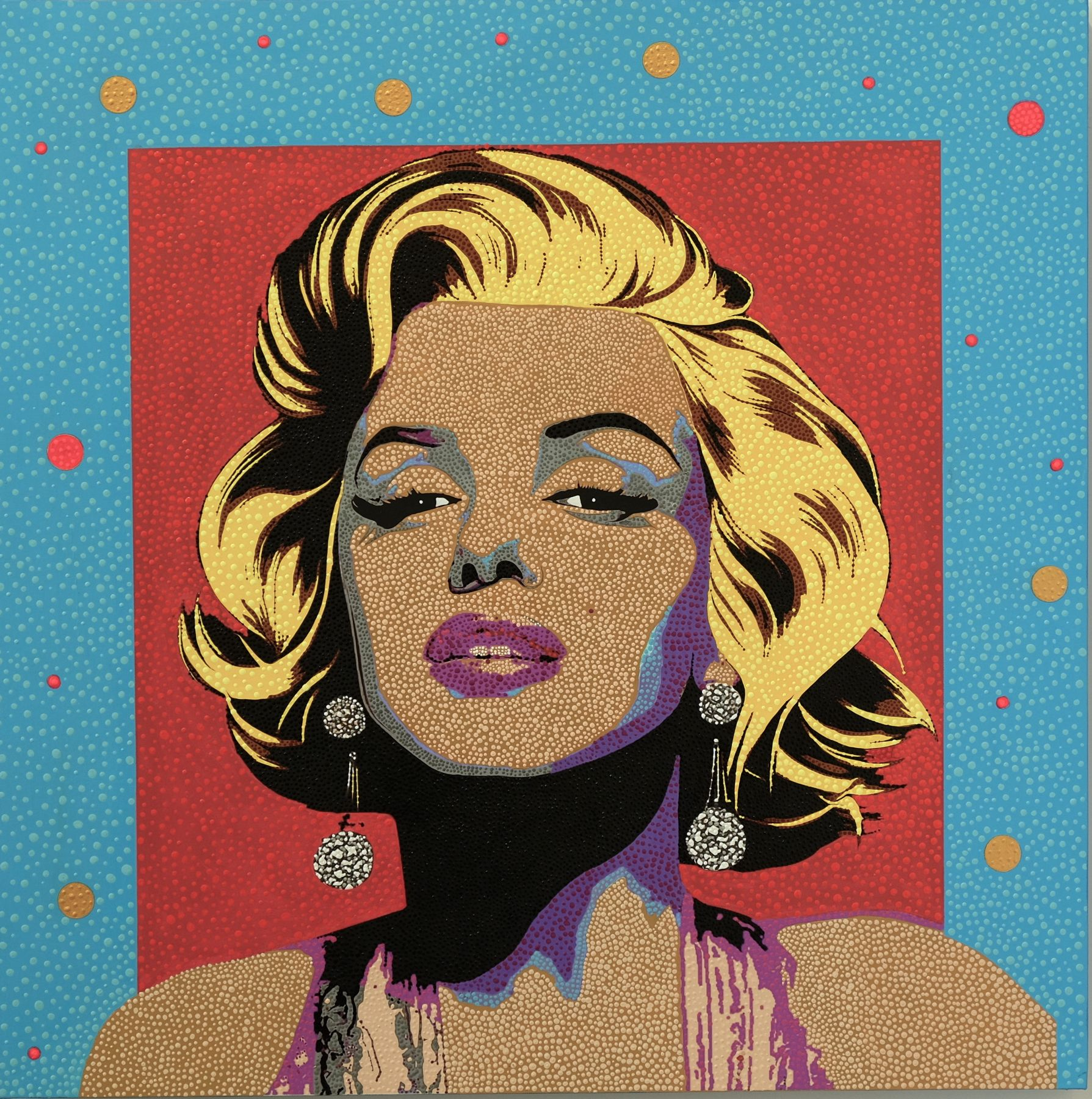 Marilyn Monroe from Dot Pop by Philip Tsiaras at Hg Contemporary founded by Philippe Hoerle Guggenheim