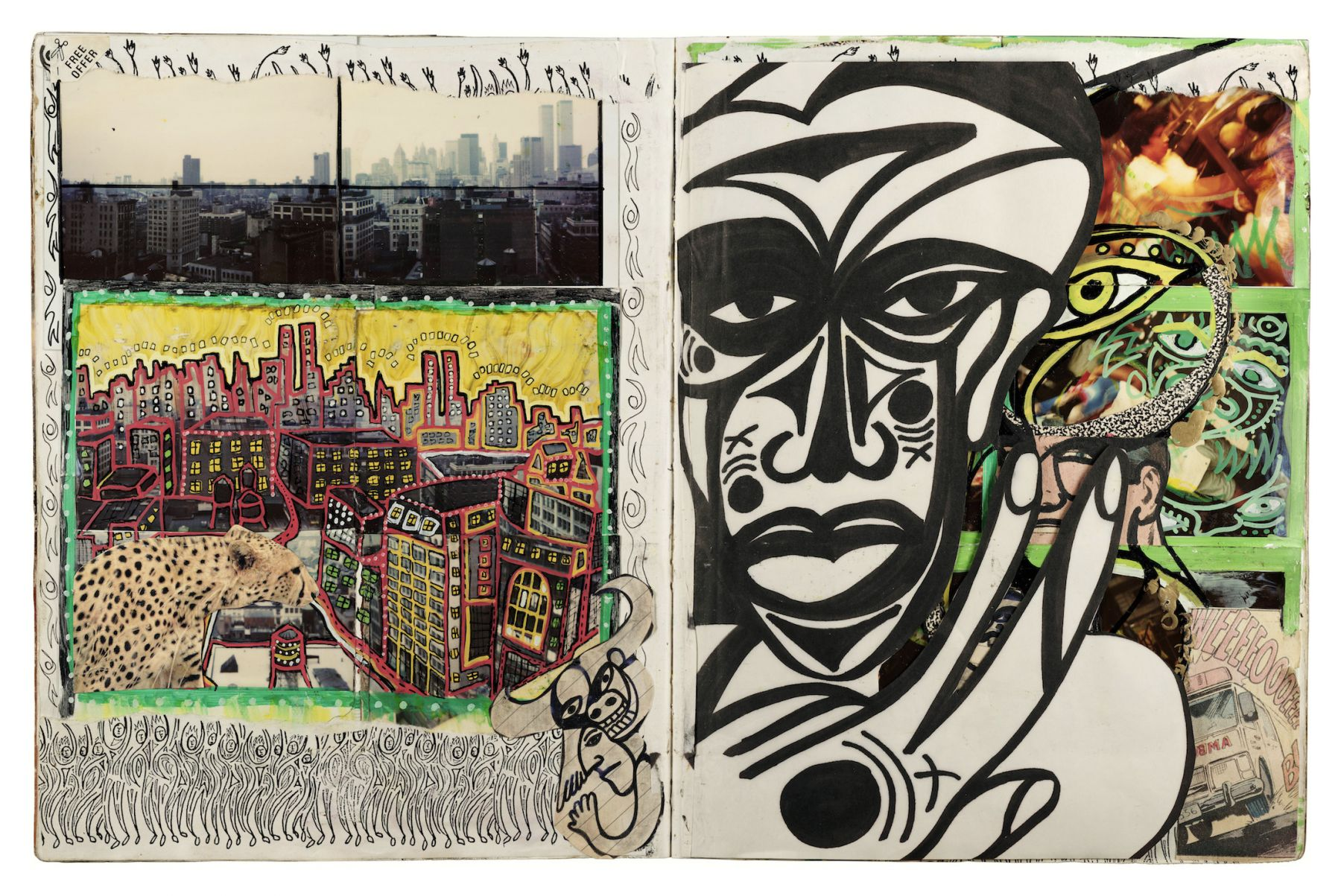 Nyc African Self Portrait by Dan Eldon at Hg Contemporary, founded by Philippe Hoerle-Guggenheim